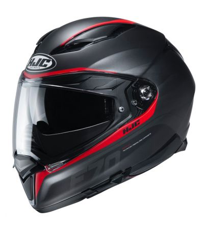 ΚΡΑΝΟΣ FULL FACE HJC F70 FERON MC1SF MATT BLACK RED