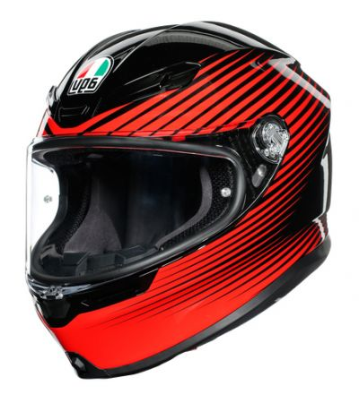 ΚΡΑΝΟΣ FULL FACE AGV K6 MULTI RUSH BLACK/RED MPLK