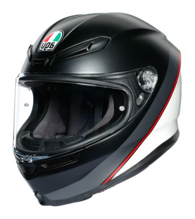 ΚΡΑΝΟΣ FULL FACE AGV K6 MINIMAL PURE MATT BLACK/ WHITE/ RED