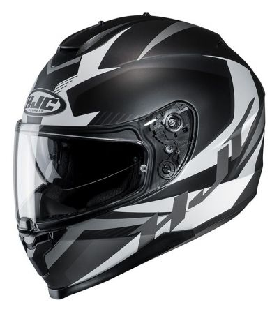 ΚΡΑΝΟΣ FULL FACE HJC C70 TROKY MC-5SF MATT BLACK WHITE
