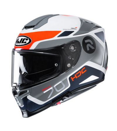 ΚΡΑΝΟΣ FULL FACE HJC R-PHA 70 SHUKY MC6H GREY ORANGE WHITE