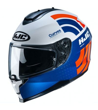 ΚΡΑΝΟΣ FULL FACE HJC C70 CURVES MC27 BLUE WHITE ORANGE