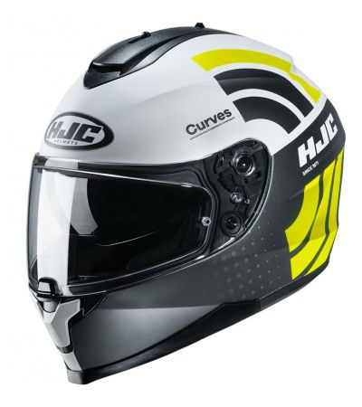ΚΡΑΝΟΣ FULL FACE HJC C70 CURVES MC4HSF MATT WHITE TITANIUM FLUO