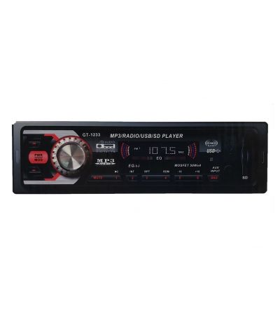 RADIO MP3/USB/SD/AUX PLAYER ΑΥΤΟΚΙΝΗΤΟΥ OEM GT-1233