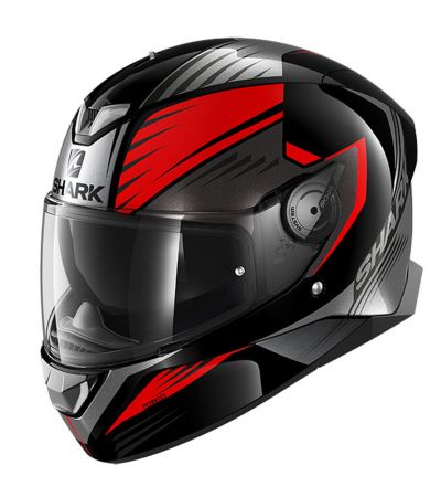 ΚΡΑΝΟΣ FULL FACE SHARK SKWAL 2 HALLDER BLACK/GREY/RED