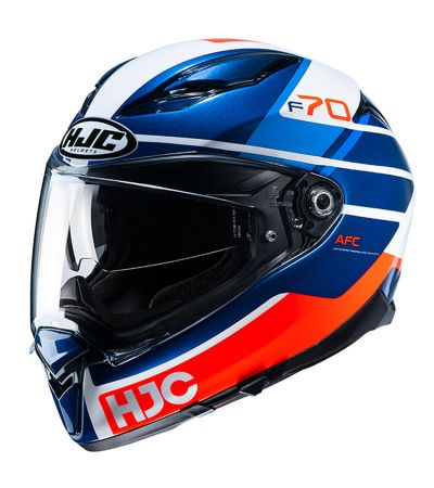 ΚΡΑΝΟΣ FULL FACE HJC F70 TINO MC21 WHITE/BLUE/FLUO