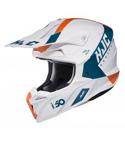 ΚΡΑΝΟΣ ENDURO HJC i50 ERASED MC47SF WHITE BLUE ORANGE