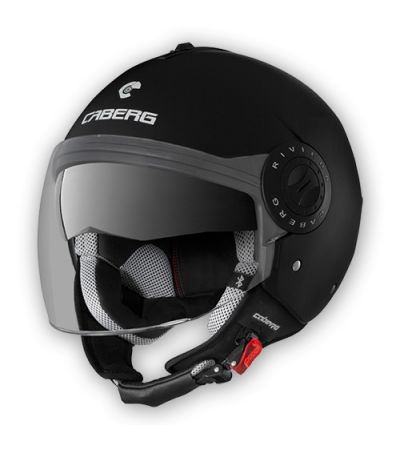 CABERG RIVIERA V3  OPEN FACE BLACK