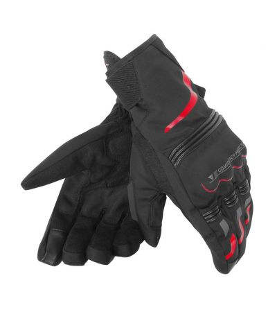ΓΑΝΤΙΑ DAINESE TEMPEST UNISEX D-DRY GLOVES SHORT BLACK/RED