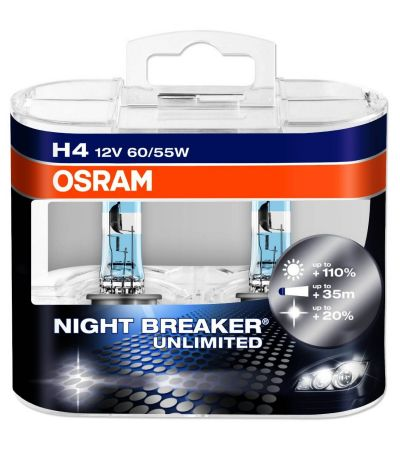 H4 OSRAM NIGHT BREAKER UNLIMITED WHITE HALOGEN