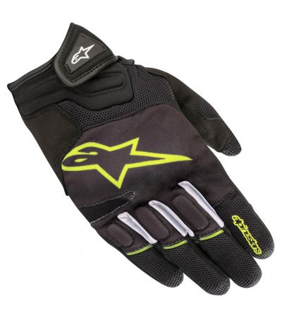 ALPINESTARS ATOM GLOVES BLACK YELLOW FLUO