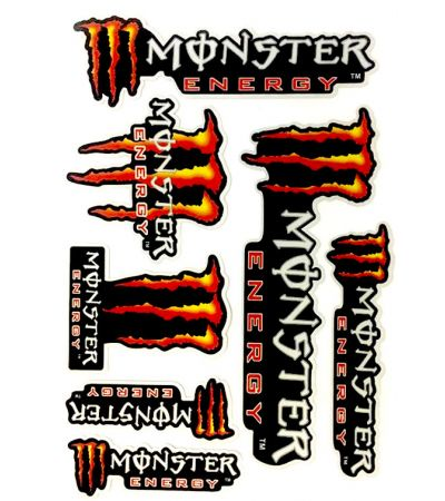 MONSTER RED STICKER COLLECTION