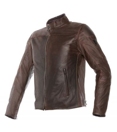 DAINESE MIKE LEATHER JACKET DARK BROWN