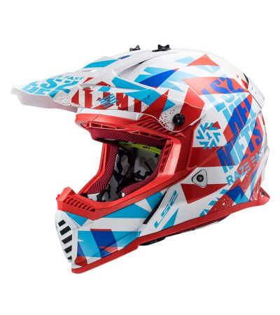 ΚΡΑΝΟΣ ENDURO LS2 FAST EVO MX437 FUNKY BLUE WHITE RED