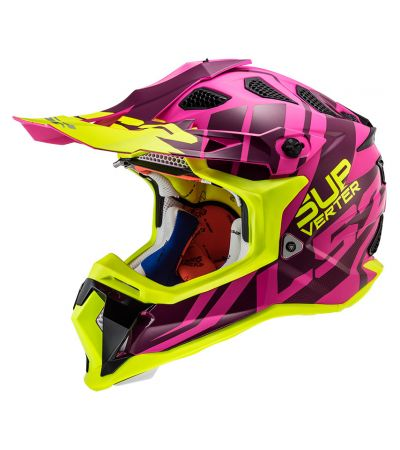ΚΡΑΝΟΣ ENDURO LS2 SUBVERTER MX470 TROOP PINK YELLOW