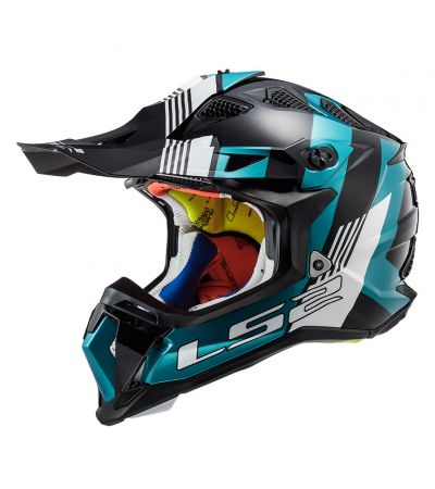 ΚΡΑΝΟΣ ENDURO LS2 SUBVERTER MX470 MAX BLUE TEAL WHITE