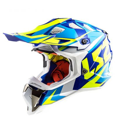 ΚΡΑΝΟΣ ENDURO LS2 SUBVERTER MX470 NIMBLE BLUE WHITE YELLOW