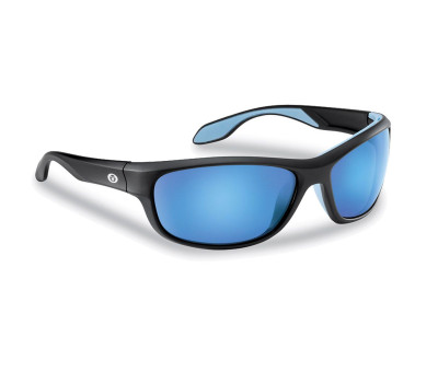 Flying Fisherman CAYO Matte Black/Blue Mirror Polarized