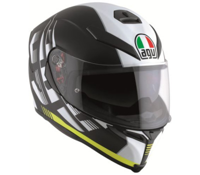 AGV K5 S Darkstorm Matt Blak/Yellow