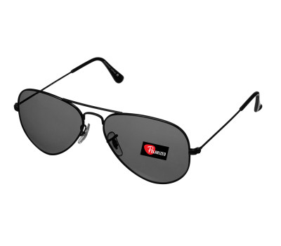 Black Polarized Aviator By American Optical Design