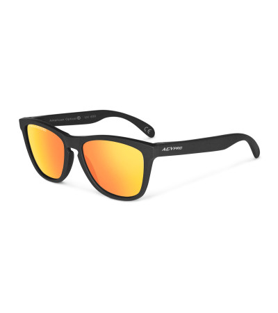 AGVpro by American Optical Polarized Frogskin style Matte Black 512