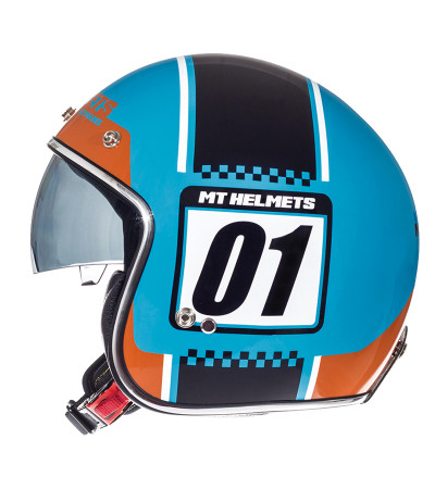 MT Le Mans SV Numberplate Blue/Orange Fluo