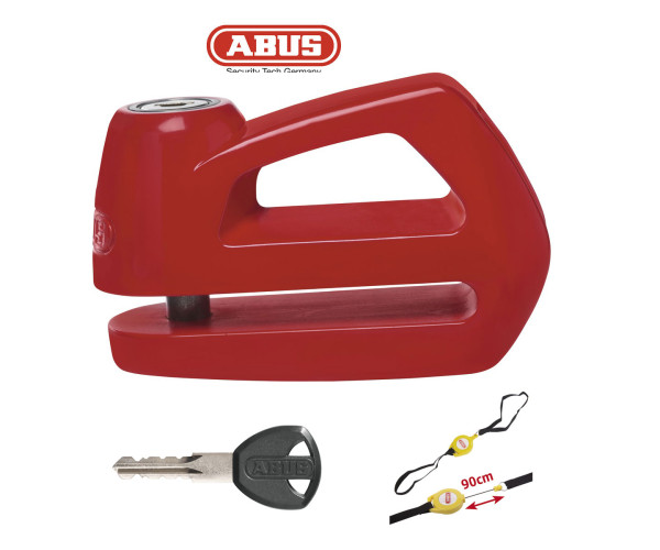 ABUS ELEMENT 290  DISC LOCK 10MM  RED