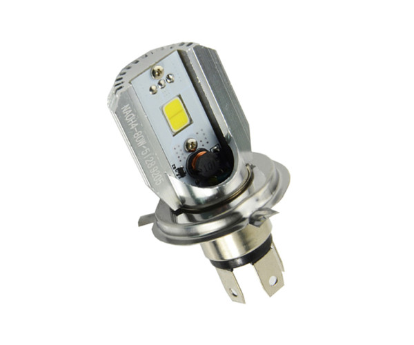 H4 MOTORCYCLE LED 6W X2 800LM HIGH/LOW BEAM 6000K 12V
