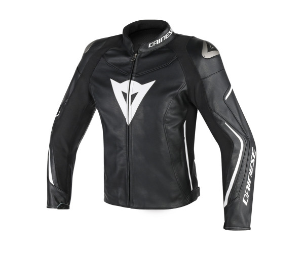 DAINESE ASSEN LEATHER JACKET BLACK WHITE 1533760    Toofast 9e0b88cfd62