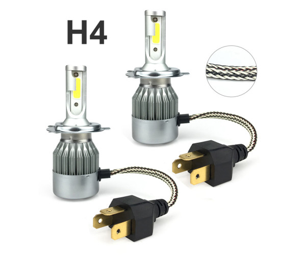 LED H4 UNIVERSAL ΜΕ ΑΝΕΜΙΣΤΗΡΑ  6000K 36W 4000LM HIGH/LOW BEAM
